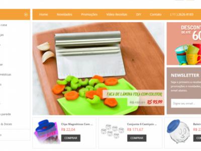 Loja virtual de Casa, presentes e decoração - Com 8 anos de mercado