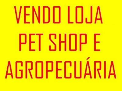 Loja pet shop e agropecuária em funcionamento