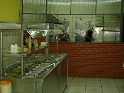 Salão c/ 250m2 já montado cafe e self service