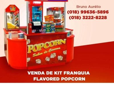 Quiosque de pipocas da Flavored Popcorn