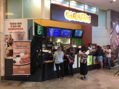 Restaurante em Shopping Center