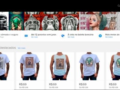 Estamparia em Silk Digital e Loja Virtual Completa