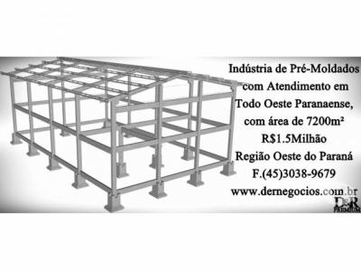 Indústria de  Pré-Moldados com Atendimento em Todo Oeste Paranaense R$1.5000.000,00