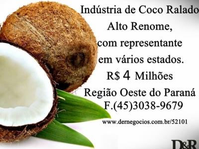 Indústria de Coco Ralado, Representantes em Vários Estados.