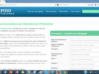 Portal de Contato com Advogados